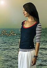 Ahoy tričko - jednoduché, pásikavé