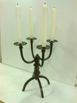 Svietidlá a sviečky - Kovaný svietnik - 4258596_