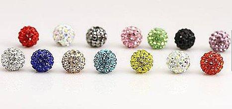 Korálky - Shamballa korálky 100ks, rôzne farby, 26€/100ks - 4255283_