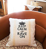 Úžitkový textil - Vankúš KEEP CALM... - 4259785_