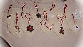Tabuľky - Vianočná dekorácia na stromček či girlandu - 4261861_