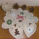 Tabuľky - Vianočná dekorácia na stromček či girlandu - 4261865_