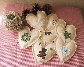 Tabuľky - Vianočná dekorácia na stromček či girlandu - 4261864_