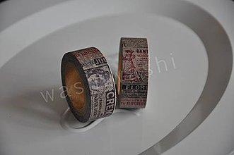 Papier - washi paska vintage news - 4261837_