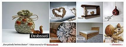 Úžitkový textil - Bio meštek Tri oriešky - 4260364_