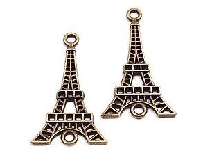 Korálky - Prívesok Eiffelova veža Staromosadz - 4260932_