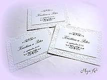 Papiernictvo - Kartičky na svadobné výslužky - Elegance - 4261520_