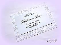 Papiernictvo - Kartičky na svadobné výslužky - Elegance - 4261566_