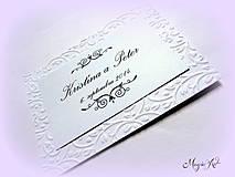 Papiernictvo - Kartičky na svadobné výslužky - Elegance - 4261567_