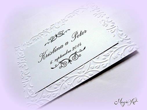 Kartičky na svadobné výslužky - Elegance