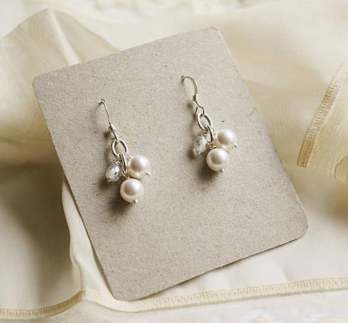 4fe204fa5 Náušnice s perlami a zirkónmi svadobné / LuciaStofej - SAShE.sk ...