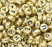 Zlaté korálky abeceda (balíček 500ks)