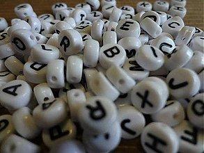 Korálky - Korálky abeceda (balíček 500ks) - 4259001_