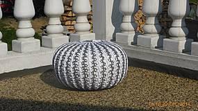 Úžitkový textil - Puf ZEBRA - 4259631_