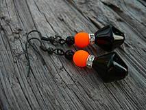 Náušnice - Náušnice Orange neon - 4266113_
