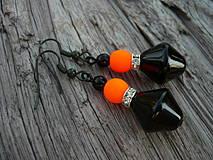 Náušnice - Náušnice Orange neon - 4266114_