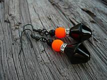 Náušnice - Náušnice Orange neon - 4266115_