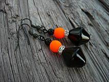 Náušnice - Náušnice Orange neon - 4266116_