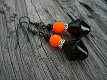 Náušnice - Náušnice Orange neon - 4266117_