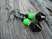 Náušnice - Náušnice Green neon - 4266129_
