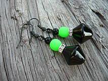 Náušnice - Náušnice Green neon - 4266130_
