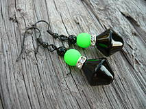 Náušnice - Náušnice Green neon - 4266131_