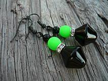 Náušnice - Náušnice Green neon - 4266132_