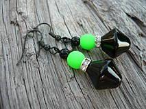 Náušnice - Náušnice Green neon - 4266133_