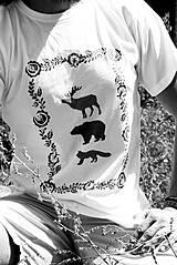 lesné zveri - čiernobiele