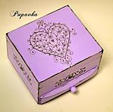 Krabičky - Fialkové srdce pre teba - 4265242_