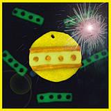 Dekorácie - Svietiaca vianočná ozdoba - žltá - 4262879_