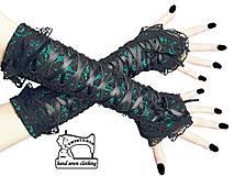 Rukavice - Bezprsté čipkované rukavičky - návleky na ruky 1390 - 4267837_