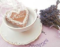 Darčeky pre svadobčanov - Medovníková menovka Matúš - 4267697_