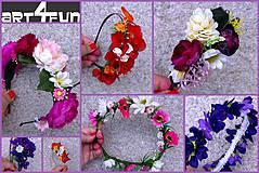 Kurzy - Flower Power - venčeky, čelenky, náramky - 4268256_