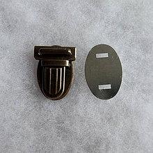 Galantéria - Aktovkový zámček malý - staromosadz - 4269556_