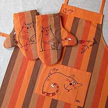 Úžitkový textil - VAŘENÍ pro KOČKU - zástěra a chňapky - 4270680_