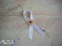 Pierka - hnedé svadobné pierko č.2 - 4274266_