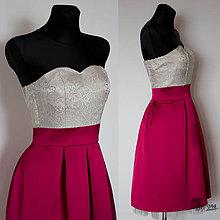 Šaty - Korzetové šaty so skladanou sukňou vo retro štýle - 4274108_
