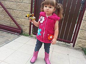 Detské oblečenie - Vesta jesenna 1.-vtáčiková - 4276738_