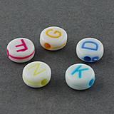 Korálky - Plastové korálky 100ks 7x3mm otvor: 1,5mm farebné - 4276800_