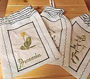 Úžitkový textil - vrecko na bylinky - 4276279_