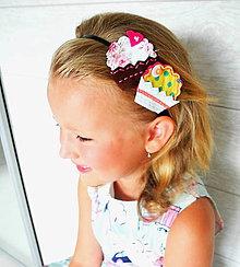 Ozdoby do vlasov - Čelenka s muffinkami - 4276171_
