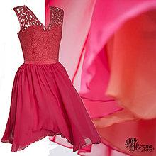 ac01cde1c2e8 Šaty - Koktejlové šaty s trojfarebnou šifónovou sukňou rôzne farby -  4275835