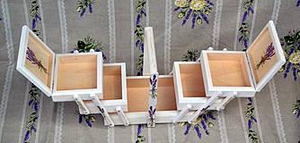 Krabičky - Ihelník či šperkovnica levanduľa - 4275414_