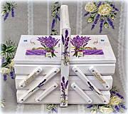 Krabičky - Ihelník či šperkovnica levanduľa - 4275418_