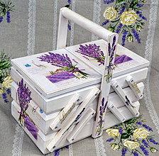 Krabičky - Ihelník či šperkovnica levanduľa - 4275420_