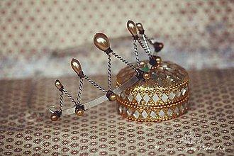 Ozdoby do vlasov - golden drops se zlatými korálky - 4277888_