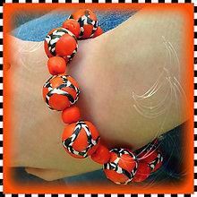Náramky - Abstraktný oranžový náramok - 4275654_