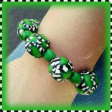 Náramky - Abstraktný zelený náramok - 4275659_