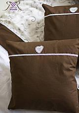 Úžitkový textil - Čokoládkový vankúšik :) - 4281184_